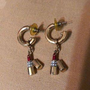 Lipstick Hoop Earrings